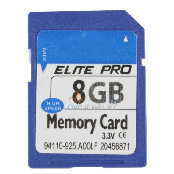 LY4# High Speed 8GB SD Secure Digital Flash Memory Card + Case(China (Mainland))