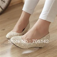 Free shipping! Fashion new 2013 summer casual shoes for women/lady, soft attractive sweet&lovely shoes, Black&Glod color
