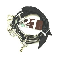 Free shipping 2014 min order$5 fashion b34 : fashion exquisite plate leather high quantify metal pendant bracelet wl