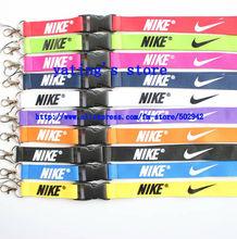 Hot Free shipping  50pcs sports Fashion Popular logo lanyard  Phone Lanyard key chains Neck Strap Wholesale(China (Mainland))