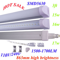 DHL Free Shipping 4pcs/lot 3ft T5 LED TUBE 900m 15W/16W/17W SMD5630 High Lumen 1500-1700LM T5 Fluorescent Tube Lamp