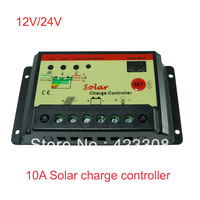 free shipping 10A 12V 24V solar charge controller with timer control,solar light controller