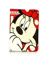 Original Cute Cartoon Minnie Mouse Flip 360 Rotating Belts Stand Leather Book Cases Smart Cover For Apple Mini Ipad 2 3 4 Bags