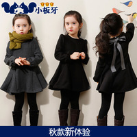 2013 autumn children's clothing bow child baby female child long-sleeve dress 6332