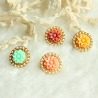 Fashion vintage flower stud earring stud earring small flower