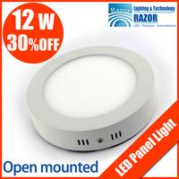 2013 surface mounted 12w led panel light(174mm dia,LED lumen1080lm) AC85-265V CE&ROHS Kitchen Bathroom led light free shipping