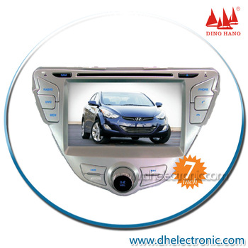 DH-6521F 7in 2Din Touch Screen Hyundai Elantra 2012 Car dvd player/In Dash Multimedia Car dvd gps Built in Bluetooth/ipod/TV