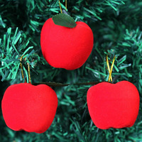 Free shipping wholesale 2013 new Christmas red apple Christmas tree ornament, x'mas tree decoration Factory Outlet