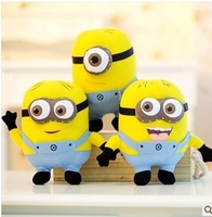 Free shipping 3 pcs/lot Despicable ME Movie Plush Toy 10 inch 25cm Minion 3D eye Jorge Stewart Dave baby educational toys