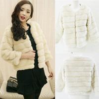 Free shipping 1292 2012 women's fur coat design short overcoat