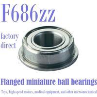 50PCS Free Shipping F686ZZ Flanged bearing LF1360ZZ FAX6ZZ FLW686ZZ F686-2Z ULKZ613 6*13*5 mm Shielded Miniature Ball Bearings