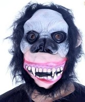 HOT!!! Halloween supplies masquerade masks gorilla mask of terror hair just 95g