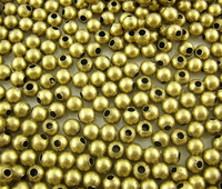 Free Shipping 500pcs Antique Bronze Smooth Ball Spacer Beads 4mm in Dia. Jewelry Making Findings Wholesale