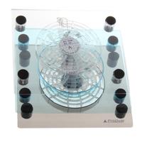Transparent big fan cutout cooling rack laptop cooling pad cooling base cooling pad