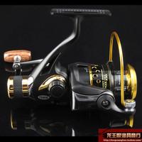 Free shipping Teben metal fishing reel spinning wheel tnr500 9 1 shaft long round fishing tackle