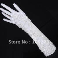 Free Shipping New Retail/Wholesale GK White Evening Party Prom Bridal Wedding Fingerless Gloves CL3129