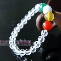 Natural crystal white crystal bracelet female male bracelets yangxinanshen evil gift