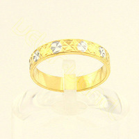 Free Shipping New Arrival Men's Women's Top Quality 24K Real Yellow White Gold Filled Ring GZ61 US Size 7/8/9/10