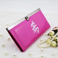 Sj super junior chul patent leather wallet should aid the exquisite packaging box