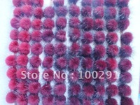 hot on sale !!!discount!!500pieces/lot beautiful Genuine Mink Fur Ball 30mm many color you can select FREE shipping