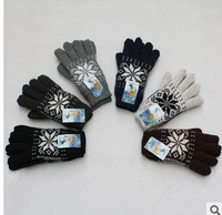 Plus velvet thickening thermal gloves five fingers gloves 2012 winter thickening thermal