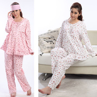 Luckbao autumn women maternity lounge suit sleepwear autumn underwear cardigan maternity nursing set autumn and winter