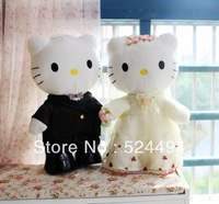 Free Shipping New Arrival Hot selling 2013 Wedding Couple Hello Kitty Stuffed Plush Toy, 30cm,1pair xqw190