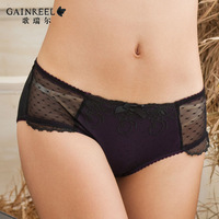 New arrival 2013 song arrail gauze embroidery panties women's comfortable trunk