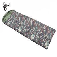Camouflage single sleeping bag outdoor camping sleeping bag adult sleeping bag three season sleeping bag 1.3kg