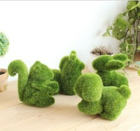Free Shipping Grassland artificial grass decorations small animal heliocalm decoration zakka