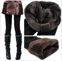 Autumn and winter plus velvet thickening legging brushed warm pants female boot cut jeans trousers 8088