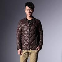 Free shipping  2013 autumn male short design thin down coat male Men men's clothing
