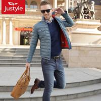 Free shipping 2013 winter thin shirt fashion thermal male down coat