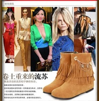 2013 new autumn and winter snow boots fringed boots within the higher the student with a sweet dating women boots tide