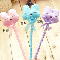 20pcs/lot, supermova sale cartoon animal pen plush rabbit ballpoint pen slimline pen kits