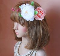 1030250FLOWER GARLAND/ARTIFCIAL GARLAND/FAKE FLOWER/HAIR BRIDAL/GIRL GARLAND/VALENTINE'S DAYS WREATHS/MOTHER'S DAY WREATH