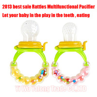 Best sale Non-toxic silicone Baby & Child Care baby complementary feeding pacifier With Rattles free shipping