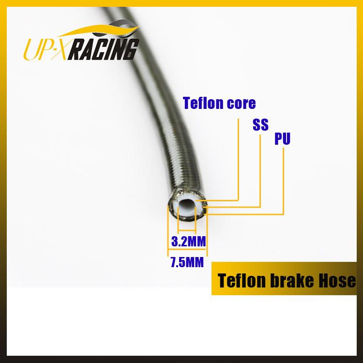 Motorcycle hydraulic braided brake hose line racing teflon core brake line teflon hose(China (Mainland))