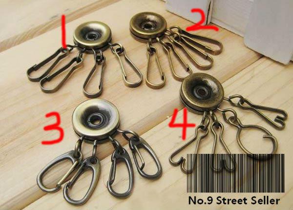 Track Ship+20pcs/lot Home DIY Purse 4 Lock Rotate Metal Key Chain Ring for Bag Sewing Craft Tailor Sewer(Hong Kong)