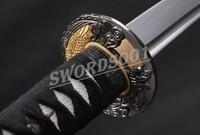 Japanese Katana Damascus Folded Steel Samurai Sharp Sword Knife Nice Hamon 709