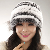 Fur hat 2013 thickening rex rabbit hair hat winter cap thermal rabbit fur cap