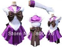free shipping Sailor Moon Saturn Cosplay Purple Sailor Moon Fancy Dress & Gloves  S/M/L/XL UK 8/10/12/14/16