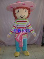 Strawberry girl cartoon sesame street clothes cartoon doll clothes performance wear abroad edition