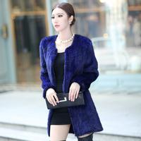 Женская одежда из кожи и замши 2012 mink knitted fur vest mink vest plus size clothing leather coat