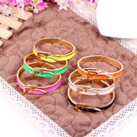 2015 Limited Women Indian Jewelry From India Pulseiras Femininas Wholesale New Retro Belt Buckle Glaze Bracelet Female B197