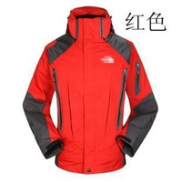 free shipping 2012 male waterproof windproof thermal outdoor casual fleece outdoor jacket piece set ski suit