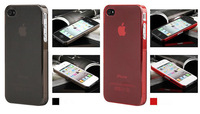 Free Shipping Ultrathin Diagonal 0.5 mm Transparent Case for iphone 4 and 4S
