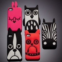 Free Shipping 2013 New Arrival Marc Creatures Case For Iphone 5, owl cat dog case, owl cat dog cover