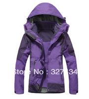 Outdoor Sports Men Jacket Windbreaker Waterproof Hiking Climbing Ski fleece thermal three-in twinset DGD023-9960B Free shipping