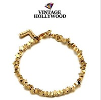 Min.order is $15 (mix order) Popular Dream Star Bracelet  golden
